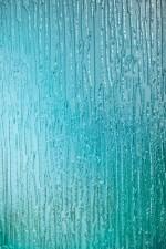 Blue pattern glass - 01