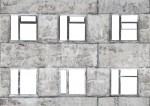 Facade with broken windows - 03