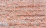 Red sloppy brick wall - 01