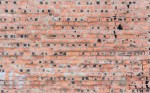 Red sloppy brick wall - 02